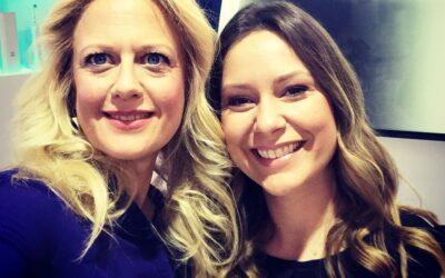 TV-Moderatorin Barbara Schöneberger und RTL-Moderatorin Saskia Naumann