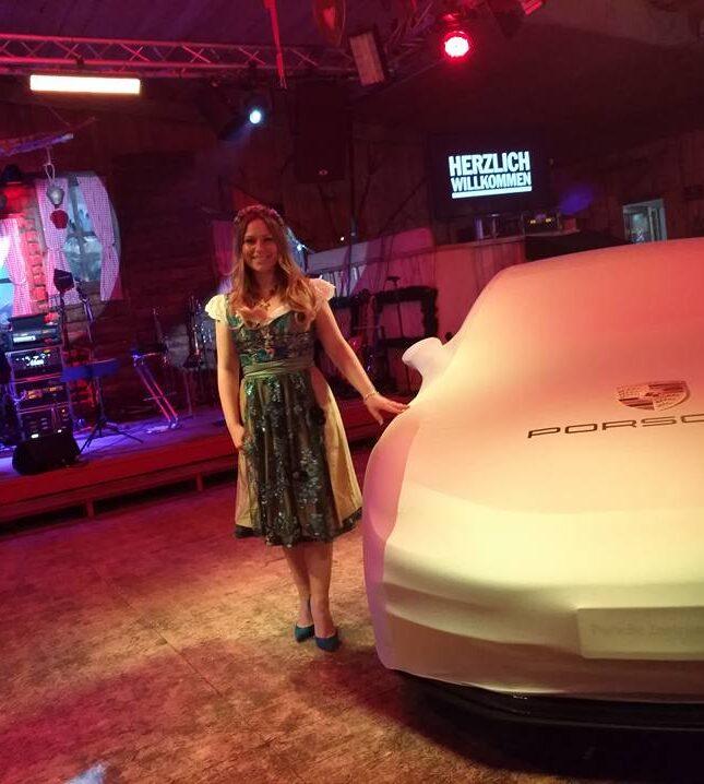 Eventmoderatorin Automobil für Porsche in Stuttgart Saskia Naumann