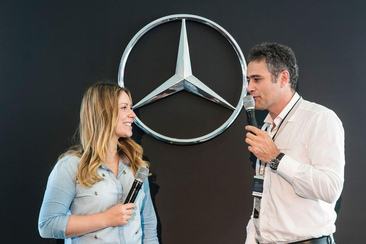 Moderation DTM für Mercedes Benz